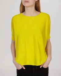 Karen Millen Sweater - Pod Knit yellow - Lyst
