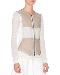 Callens - Two-Toned Leather Vest - Lyst