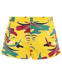 Marni Carioca-Print Shorts - Lyst
