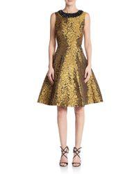 Chetta B - Brocade Fit-&-flare Dress - Lyst