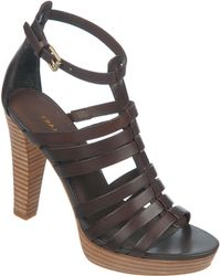 Franco Sarto Bauble High-Heel Leather Sandals - Lyst