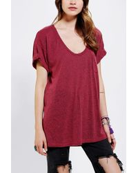 Truly Madly Deeply Scoopneck Slouch Pocket Tee - Lyst