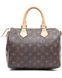 Louis Vuitton Preowned Monogram Canvas Speedy 25 Bag - Lyst