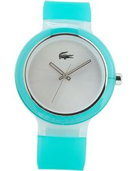 Lacoste Teal  Silver-tone Watch - Lyst