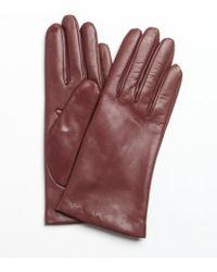 Portolano Rosy Rain Nappa Leather Itouch Tech Gloves - Lyst