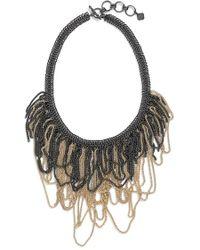 Kendra Scott 'mystic Bazaar - Margot' Chain Bib Necklace - Gunmetal Gold - Metallic