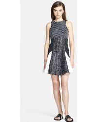 Jonathan Simkhai Patchwork Fit & Flare Dress - Lyst