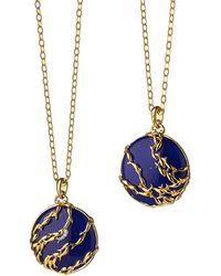 Monica Rich Kosann - School Of Fish Charm Necklace - Lyst