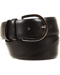 Alberto Guardiani Belt Tie Classic Buckle Leather - Black