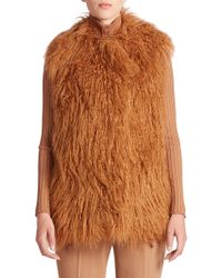 Stella McCartney - Faux Fur Gilet - Lyst