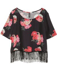 H&M Top with Fringes - Lyst