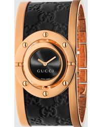 Gucci - Twirl Large Pink Gold Watch - Lyst