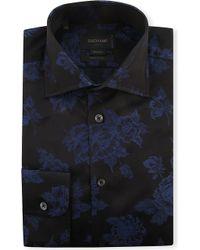 Duchamp Floral-jacquard Single-cuff Shirt - Lyst