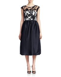 JS Boutique Lace Bodice Fit And Flare Dress black - Lyst