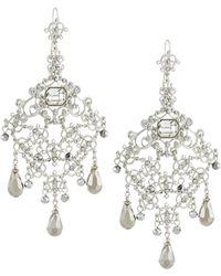 Jose & Maria Barrera | Large Crystal Filigree Chandelier Earrings | Lyst