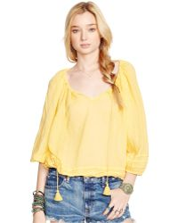 Denim & Supply Ralph Lauren Ruffle-Trim Peasant Top - Lyst