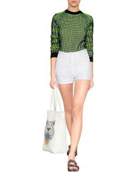 Kenzo Textural Knit Pullover - Lyst