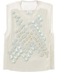 3.1 Phillip Lim Dandelion Embellished Silk Top - Lyst