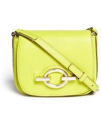 Diane von Furstenberg 'Sutra Café' Mini Deergrain Leather Shoulder Bag - Lyst