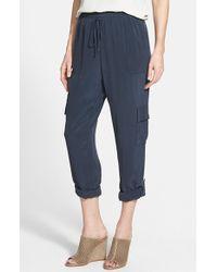 Tahari Elie Silk Cargo Pants - Lyst