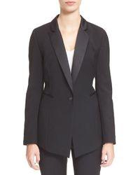 Ayr The Tuxedo Stretch-Wool Blazer - Black