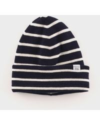 88a19935f Norse Projects Texture Beanie in Blue for Men - Lyst