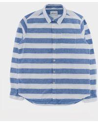 Albam - Hockney Shirt Stripe Blue White - Lyst
