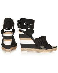 Topshop Unique Folded Strap Wedge Sandals - Lyst