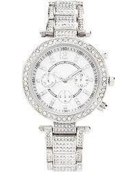 Forever 21 - Rhinestone-encrusted Chronograph Watch - Lyst