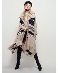Free People Womens Now And Then Cape - Natural
