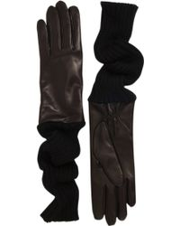 Barneys New York Wool Long Cuff Gloves - Lyst