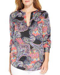 Ralph Lauren Lauren Plus Paisley Print Tunic - Lyst