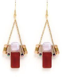 Scho - Electroplate Crystal Jade Dangle Earrings - Lyst