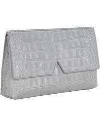 Vince Signature Croc Clutch Bag - Metallic