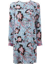 Matthew Williamson Floral Print Shift Dress - Lyst