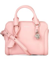 Alexander McQueen - Padlock Mini Leather Cross-Body Bag - Lyst