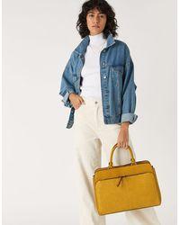 Accessorize Ladies Yellow Smart Maddie Work Bag