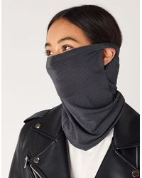 Accessorize Ladies Grey Cotton Anti-bacterial Snood Face Covering Mask