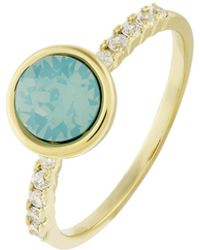 Accessorize - Simple Pave Ring With Swarovski® Crystals - Lyst