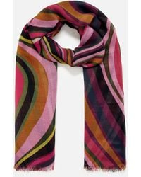 Accessorize - Women's Red, Pink And Blue Lightweight Retro Swirl Scarf, Size: 180x100cm - Lyst