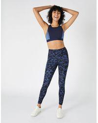Accessorize Full-length Printed Gym Legging Multi - Blue