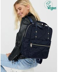 Accessorize Emmy Vegan Quilted Backpack - Blue