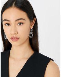 Accessorize Resin Clear Links Earrings - Multicolour