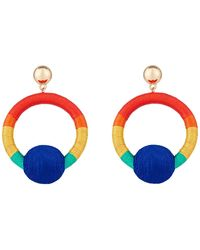 Accessorize - Ombre Thread Wrapped Ball Earrings - Lyst