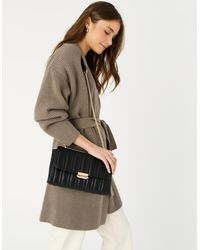 Accessorize Carrie Chain Quilted Shoulder Bag Black