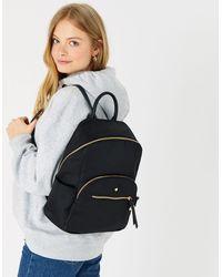 Accessorize Women's Black Nell Nylon Backpack, Size: 36x28cm
