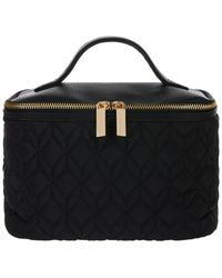 Accessorize Quilted Vanity Case In Recycled Polyester - Black