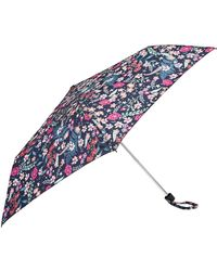 Accessorize Phoebe Floral Superslim Umbrella - Blue