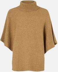 Accessorize Women's Brown Cosy Knitted Poncho, Size: 100x70cm - Multicolour