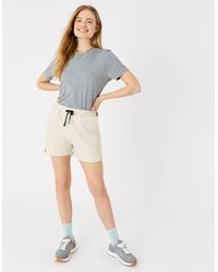 Accessorize Stripe Print Jersey Shorts Brown - Multicolour